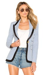Smythe Taped Peaked Lapel Blazer Blue