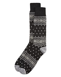 Bloomingdale's The Men's Store At Cashmere Blend Snowflake Socks Black