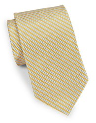 Brooks Brothers Classic Striped Tie Yellow
