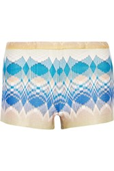 Missoni Metallic Crochet Knit Shorts