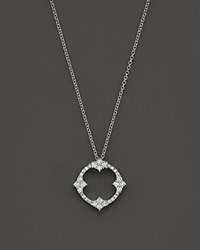 Bloomingdale's Diamond Antique Inspired Pendant Necklace In 14K White Gold .50 Ct. T.W.