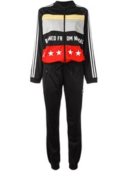 Adidas Printed All In One Tracksuit Black