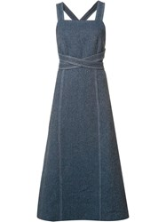 Rosetta Getty Crossover Waist Detail Dress Blue