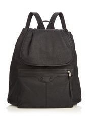 Balenciaga Arena Rubberised Leather Backpack Black