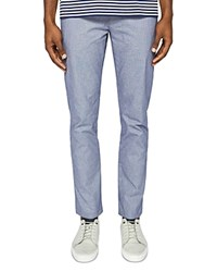 Ted Baker Hollden Slim Fit Textured Chinos Blue