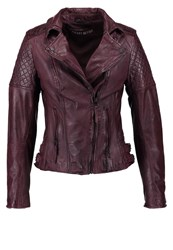 Freaky Nation Glory Leather Jacket Dark Rubis Dark Purple