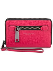 Marc Jacobs Zip Around Purse Women Leather One Size Pink Purple