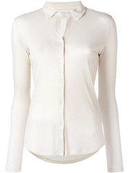 Majestic Filatures Knitted Shirt Nude Neutrals