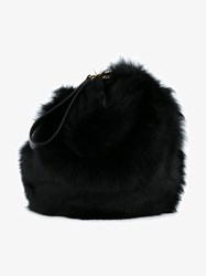 Simone Rocha Leather And Shearling Handbag Black