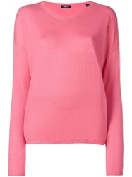 Aspesi V Neck Pullover Pink And Purple