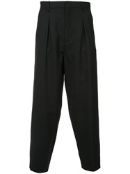 Second Layer Pleated Billowed Trousers Black