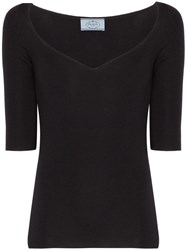 Prada Silk And Cashmere Sweater Black