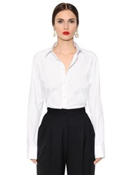 Dolce And Gabbana Stretch Cotton Poplin Shirt