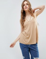 Asos The Ultimate Cami With Caging Detail Coffee Brown