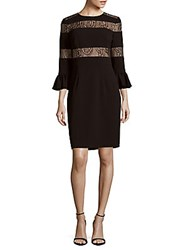 Js Collections Crepe Cocktail Dress Black Nude