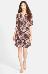 Women's Kut From The Kloth Print Chiffon Shirtdress