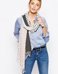 Oasis Light Weight Chevron Print Scarf Multi