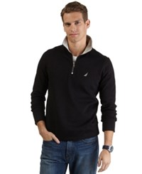 Nautica Big And Tall Quarter Zip Front Fleece True Black