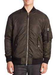 Diesel Black Gold Aviator Bomber Jacket Grey