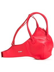 Helmut Lang Bra Shoulder Bag Red