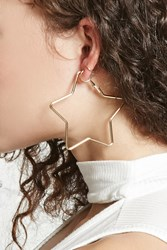 Forever 21 Star Shape Hoop Earrings Gold