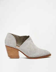 Shellys London Anime Grey Suede Cut Out Low Shoe Boots Greywhite