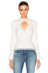 Nicholas Lace Insert Top In White