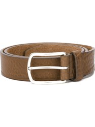 Closed Textured Belt Brown