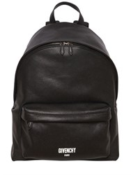 Givenchy Logo Detail Pebbled Leather Backpack