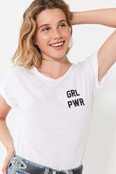 Private Party Girl Power Tee White
