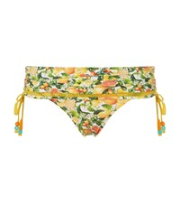 Stella Mccartney Citrus Print Foldover Bikini Bottom Female Yellow
