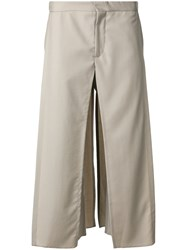 Chalayan Drop Crotch Panel Trousers Nude And Neutrals