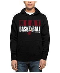 47 Brand '47 Men's Miami Heat Knockaround Headline Pullover Hoodie Black