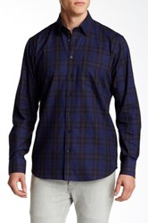 Toscano Midnight Plaid Regular Fit Shirt Blue