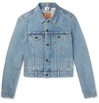 Vetements Levi's Slim Fit Panelled Denim Jacket Blue
