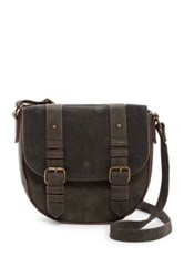 T Shirt And Jeans Buckle Saddle Bag Gray