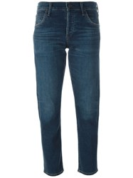 Citizens Of Humanity 'Elsa' Mid Rise Cropped Jeans Blue