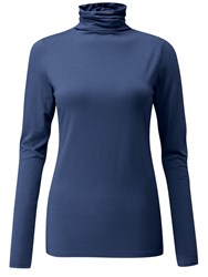 Pure Collection Valeria Roll Neck Top French Navy
