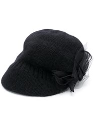 Ca4la Knitted Pattern Cap Black