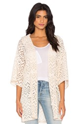 Maison Scotch Mesh Beach Hoodie Cream