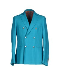 Montecore Suits And Jackets Blazers Men Turquoise