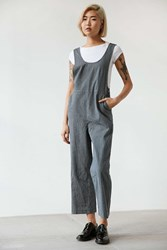 Bdg Striped Overall Jumpsuit Blue