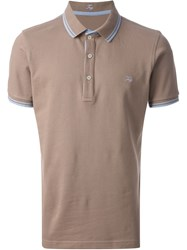 Fay Short Sleeve Polo Shirt Brown
