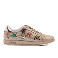 Paul Smith Ps By Women's Lapin Metallic Star Print Trainers Champagne Mono Lux Gold