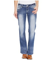 Rock And Roll Cowgirl Low Rise Bootcut In Medium Vintage W0 1378 Medium Vintage Women's Jeans Blue