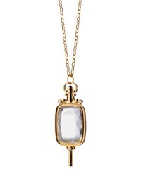 Monica Rich Kosann Pocket Watch Key Rock Crystal Necklace Unassigned