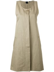 Aspesi Single Breasted Gilet Women Cotton Linen Flax 40 Nude Neutrals