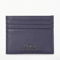 Ralph Lauren Polo Pebble Leather Card Holder Navy