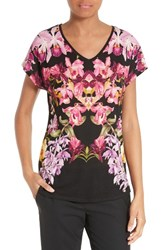 Ted Baker Women's London Templi Floral Print Tee 00 Black