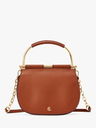 Ralph Lauren Enfield Mason 20 Leather Satchel Tan